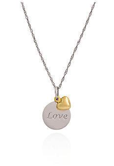 Belk & Co. Sterling Silver with 14k Gold Love Pendant