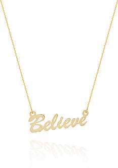 Belk & Co. 14k Yellow Gold East to West Believe Adjustable Necklace