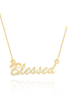 Belk & Co. 14k Yellow Gold East to West Blessed Adjustable Necklace