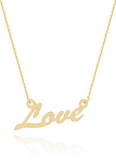 Belk & Co. 14k Yellow Gold East to West Love Adjustable Necklace