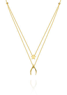 Belk & Co. 14k Yellow Gold Duo Wish Upon a Star Necklace
