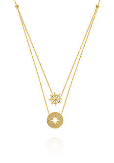 Belk & Co. 14k Yellow Gold Duo Navigation Necklace