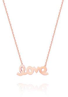 Belk & Co. 14k Rose Gold Mini love Pendant Necklace