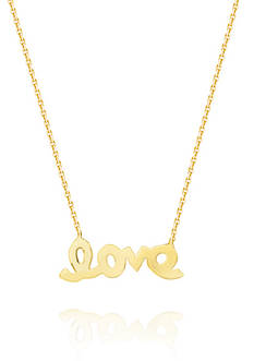 Belk & Co. 14k Yellow Gold Mini love Pendant Necklace