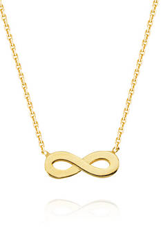 Belk & Co. 14k Yellow Gold Mini Infinity Pendant Necklace
