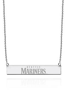 Sterling Silver MLB Engraved Seattle Mariners Bar Necklace