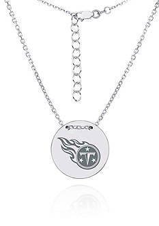 Sterling Silver NFL Tennessee Titans Tailored Round Necklace