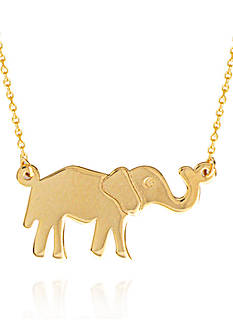 Belk & Co. 14k Yellow Gold Elephant Pendant Necklace