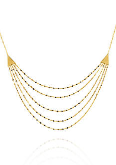 Belk & Co. 14k Yellow Gold Pyramid Hammered Forzentina Multi-Strand Necklace