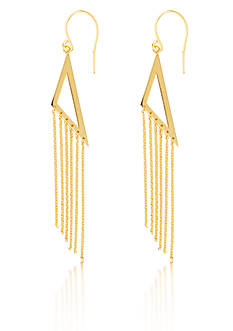 Belk & Co. 14k Yellow Gold Triangle Tassel Dangle Earring