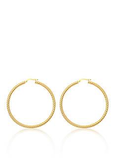 Belk & Co. 14k Yellow Gold Twisted Rope Hoop Earrings