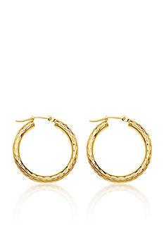 Belk & Co. 14k Yellow Gold Hoop Earrings