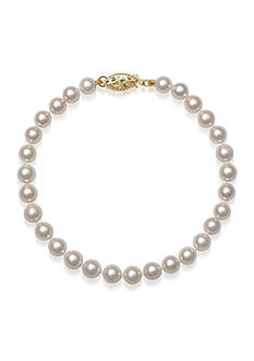 Amour de Pearl 5.50-6-mm Akoya Pearl Bracelet in 14k Yellow Gold