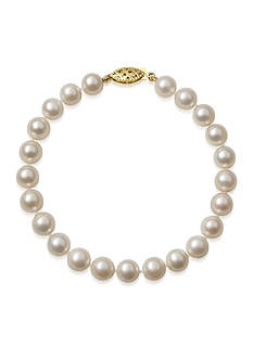 Amour de Pearl 7-7.5-mm. Akoya Pearl Bracelet in 14k Yellow Gold