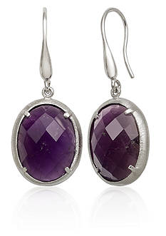 Belk & Co. Amethyst Earrings in Sterling Silver