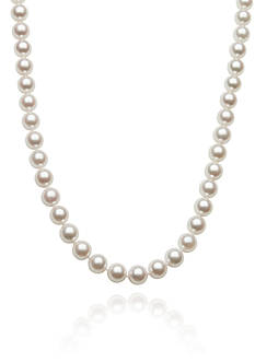 Amour de Pearl 7-7.50-mm Akoya Pearl Necklace in 14k Yellow Gold