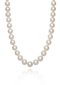Belk & Co. 14k Yellow Gold AAA Cultured Akoya Pearl Necklace