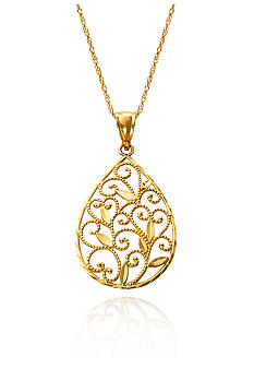 Belk & Co. 14k Yellow Gold Pendant with Lace Detail