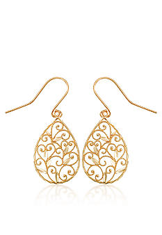Belk & Co. Pear Shape Lace Dangle Earrings