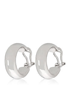 Belk & Co. Sterling Silver Petite Wedding Band Hoop Earrings