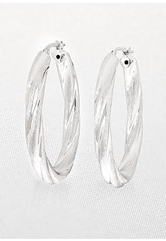 Belk & Co. Bold Oval Hoop Earrings in Sterling Silver