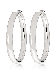 Belk & Co. Sterling Silver Bold Wedding Band Hoop Earrings