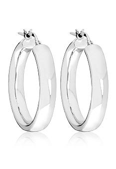 Belk & Co. Sterling Silver Classic Wedding Band Hoop Earrings