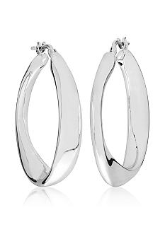 Belk & Co. Sterling Silver Organic Round Hoop Earrings