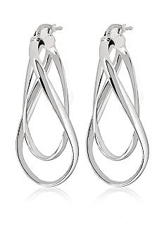 Belk & Co. Sterling Silver Sculptural Double Wrap Hoop Earrings