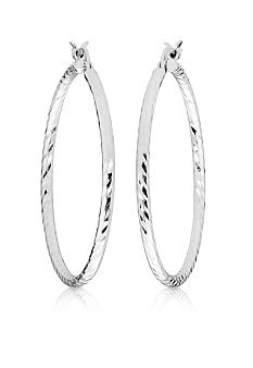 Belk & Co. Sterling Silver Polished Diamond Cut Hoop Earrings