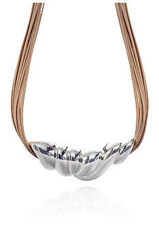 Belk & Co. Bold Sterling Silver Slide Necklace