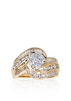 Belk & Co. Diamond Cluster Ring in 14k Two Tone Gold