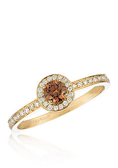 Le Vian Chocolate Diamonds® and Vanilla Diamonds® Ring in 14k Honey Gold™