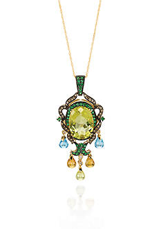 Le Vian 14k Honey Gold ™ Multi Stone, Chocolate Diamond® and Vanilla Diamond™ Pendant