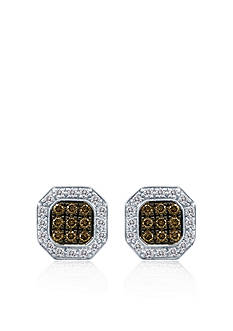 Le Vian Chocolate Diamond® and Vanilla Diamond™ Earrings in 18k Vanilla Gold™