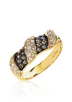Le Vian Vanilla Diamond® and Chocolate Diamond® Band in 14k Honey Gold™