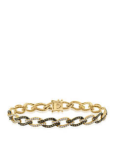 Le Vian Chocolate Diamond® and Vanilla Diamond® Bracelet in 14k Honey Gold™
