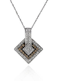 Le Vian Vanilla Diamond® and Chocolate Diamond® Pendant in 14k Vanilla Gold®