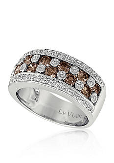 Le Vian Chocolate Diamond® and Vanilla Diamond® Band in 14k Vanilla Gold®
