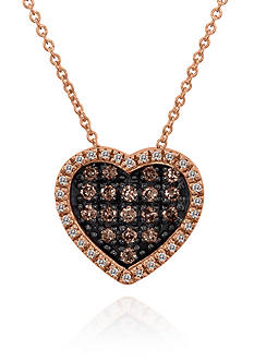 Le Vian Chocolate Diamond® and Vanilla Diamond® Pendant in 14k Strawberry Gold®