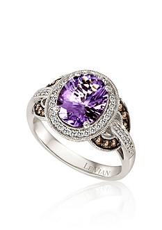 Le Vian Grape Amethyst™, Chocolate Diamond®, and Vanilla Diamond® Ring in 14k Vanilla Gold®