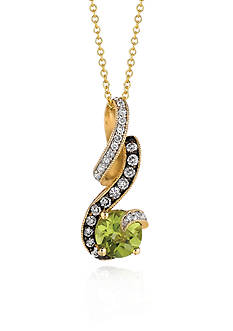 Le Vian 14k Honey Gold™ Green Apple Peridot™, Chocolate Diamond® and Vanilla Diamond™ Pendant