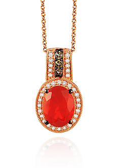 Le Vian Neon Tangerine Fire Opal®, Vanilla Diamond®, and Chocolate Diamond® Pendant in 14k Strawberry Gold®