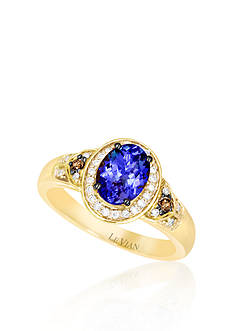Le Vian® 14k Honey Gold ™ Blueberry Tanzanite™, Chocolate Diamond® and Vanilla Diamond™ Ring