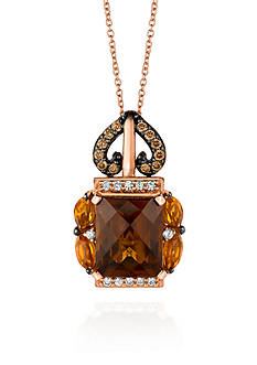 Le Vian 14k Strawberry Gold® Caramel Quartz™, Cinnammon Citrine®, Chocolate Diamond®, and Vanilla Diamond&#