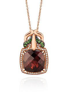 Le Vian 14k Strawberry Gold® Pomegranate Garnet™, Forest Green Tsavorite™ and Vanilla Diamond® Pendant