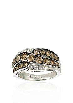 Le Vian Chocolate Diamond® and Vanilla Diamond™ Ring in 14k Vanilla Gold™