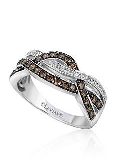 Le Vian Chocolate Diamond® and Vanilla Diamond® Gladiator® Band in 14k Vanilla Gold®