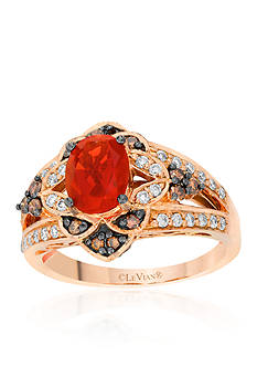 Le Vian 14k Strawberry Gold® Neon Tangerine Fire Opal®, Vanilla Diamond® and Chocolate Diamond® Ring