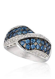 Le Vian Cornflower Blue Sapphire™ and Vanilla Diamond® Ring in 14k Vanilla Gold®